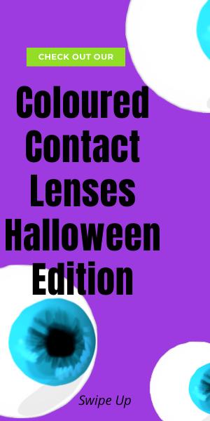 coloured contact lenses Halloween edition